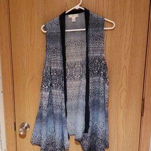 Flowy Vest with Lace Detail